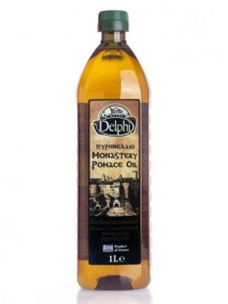 "Масло оливковое Помас Монастырское ""DELPHI"", 1л, пластик."