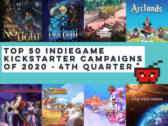 Top 50 IndieGame Kickstarter Campaigns of 2020 - 4th Quarter