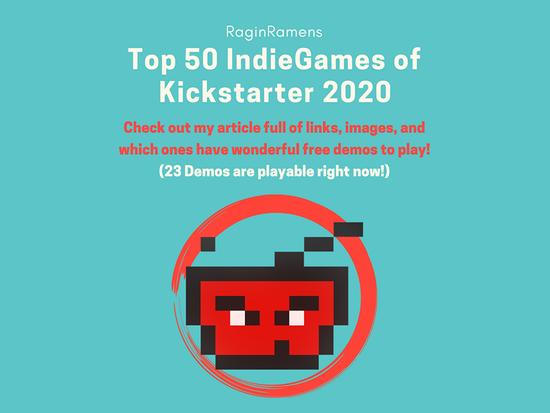 Top 50 IndieGame Kickstarter Campaigns of 2020