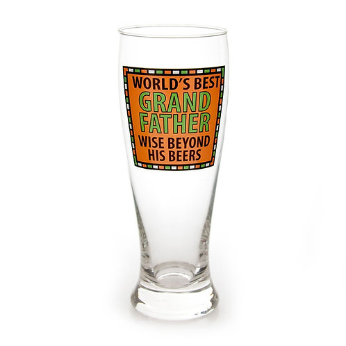 Grandfather Beer Glass