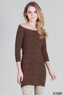 NIKIBIKI* Cheetah Print 3/4 Sleeve Dress