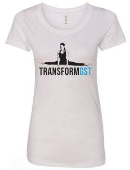 White Splits women T-shirt front.jpg