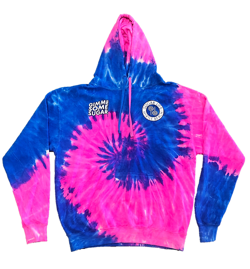 Gimme Some Sugar Hoodie - Cotton Candy Tie Dye