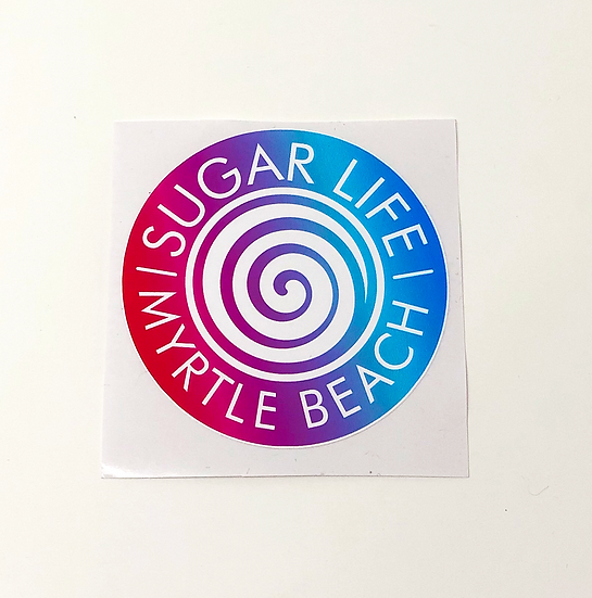 Sugar Life Tye Dye Candy Sticker