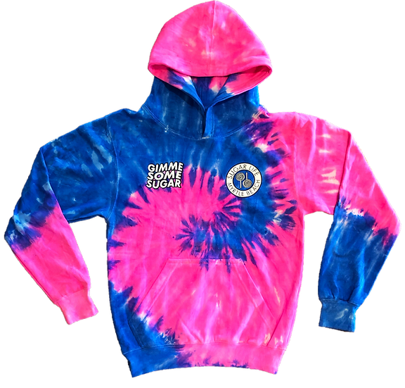 KIDS Gimme Some Sugar Hoodie - Cotton Candy Tie Dye