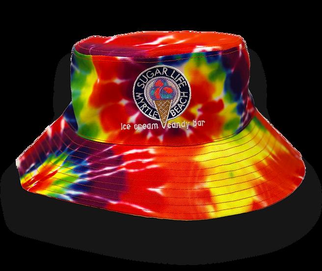 Sugar Life Bucke Hat - Rainbow Tye Dye