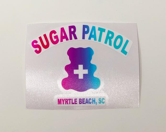 Sugar Patrol Tye Dye Sticker