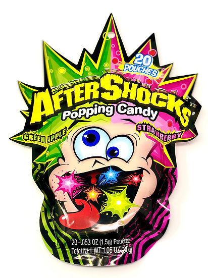 After Shocks Popping Candy - Green Apple / Strawberry