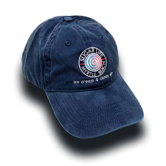 Sugar Life Candy Swirl Dad Hat - Dark Blue