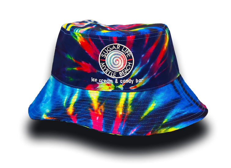 Sugar Life Bucket Hat - Blue Raspberry Tye Dye