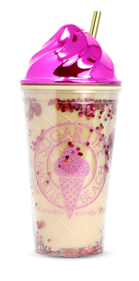 Sugar Life - Ice Cream With glitter tumbler - Pink