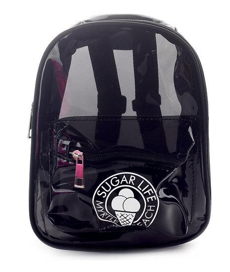 Sugar Life Translucent Mini Backpack - Black