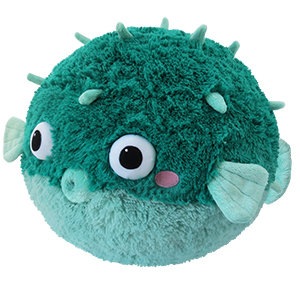 Teal Pufferfish - Squishable