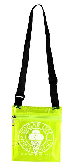 Sugar Life translucent Sholder bag - Neon Yellow