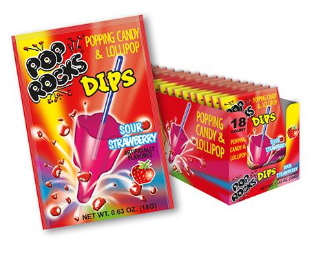 Pop Rocks Dips - Sour Strawberry
