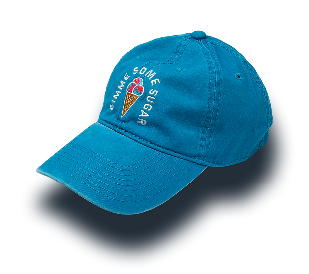 Gimme Some Sugar Cone Dad Hat - Cotton Candy Blue