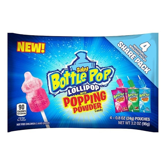 Baby Bottle Pop Lollipop W/ Popping Powder