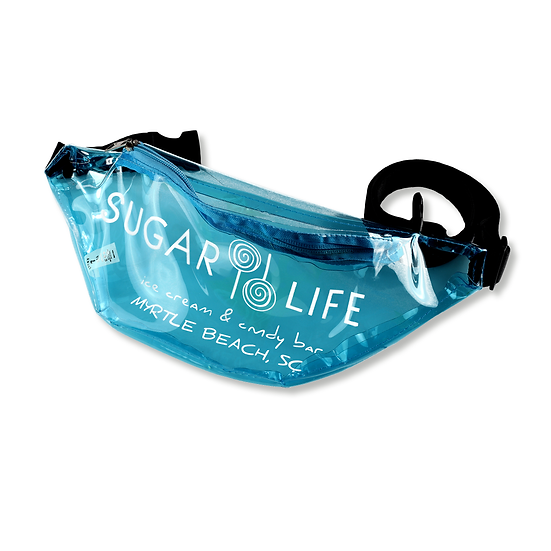 Sugar Life translucent Fanny Pack - Neon Blue