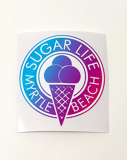 Tye Dye Ice Cream Cone Sticker