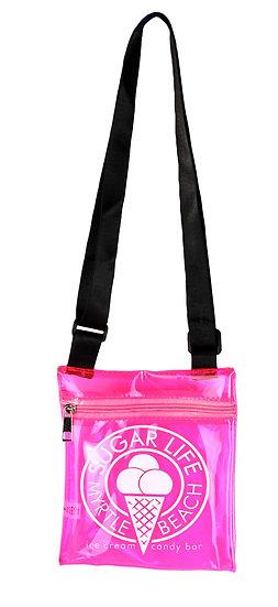 Sugar Life Translucent Shoulder Bag - Pink