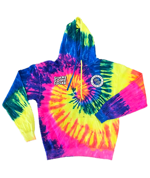 Gimme Some Sugar Hoodie - Rainbow Tie Dye