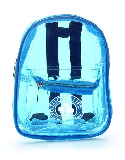 Sugar Life Translucent Mini Backpack - Neon Blue