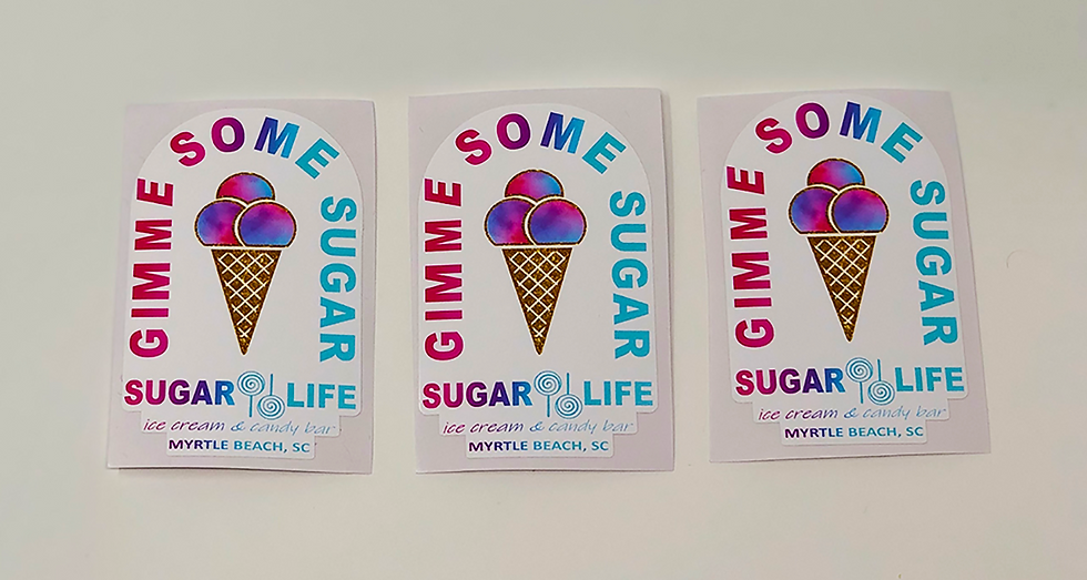Gimme Some Sugar Sticker