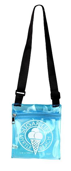 Sugar Life translucent Sholder bag - Neon Blue