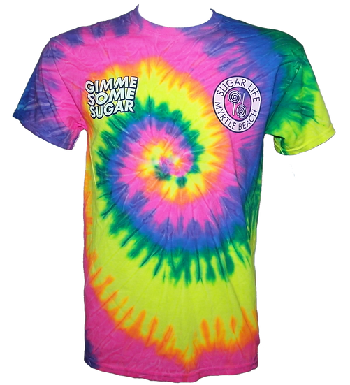"Rainbow Tie Dye ""Gimmie Some Sugar"""