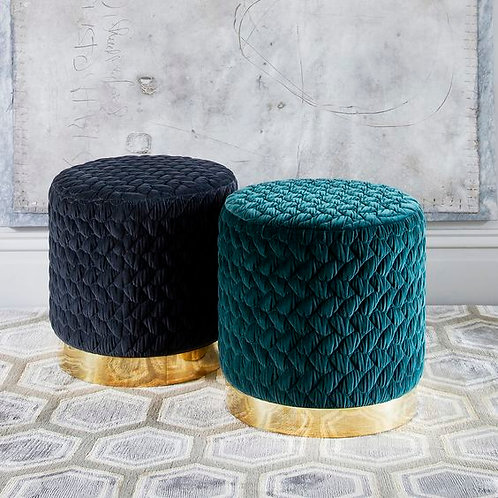 Ultra Glam Pouffe with Stainless Steel Base