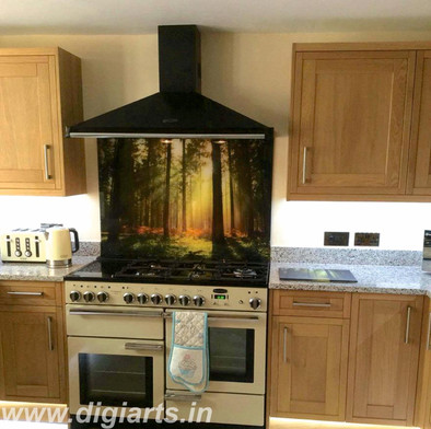 Digitally Printed Acrylic Kitchen Splashback