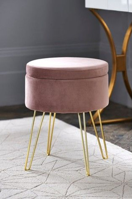 Pouffe with Stainless Steel Base