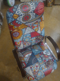 Digitally Printed Leather Chair