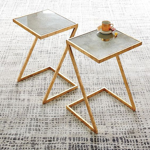 Stainless Steel Side Table Combo with Designer Legs