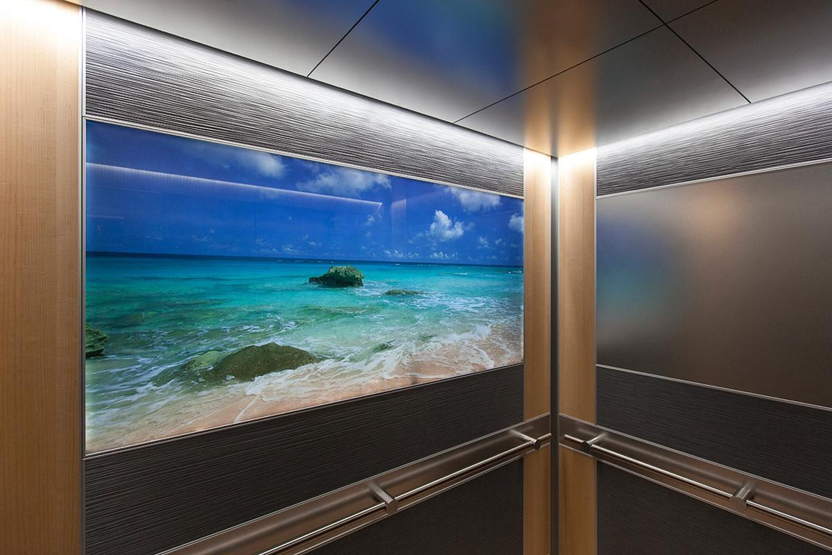Digitally Printed Glass Feature