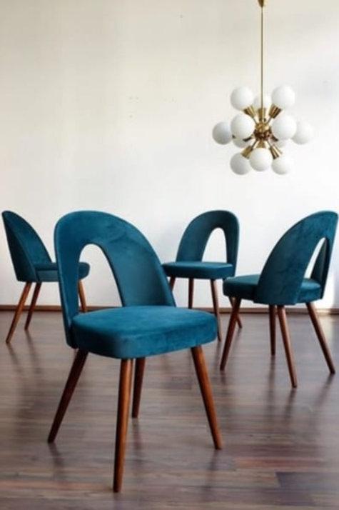 Maderian Royal Blue Designer Chair