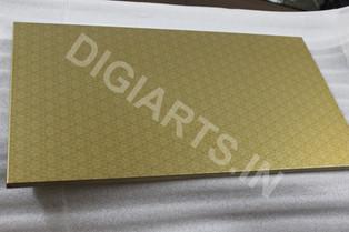 Digitally Printed Metal Plate