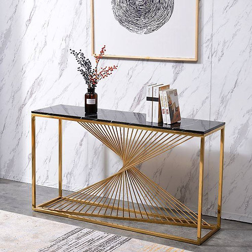 Stainless Steel Console with Glass Top