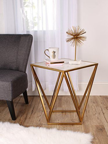 Stainless Steel Side Table with Uber Chick Elegant Base