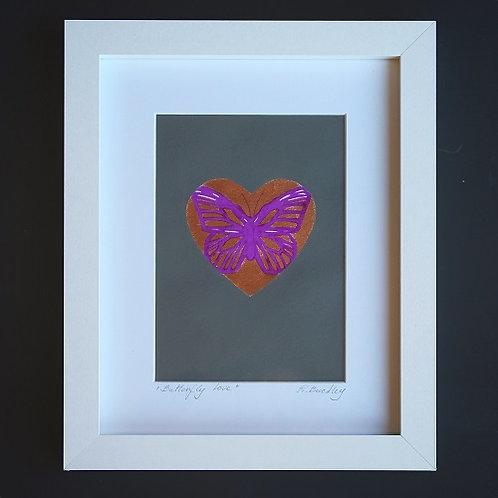 "Framed original ""Butterfly Love"""