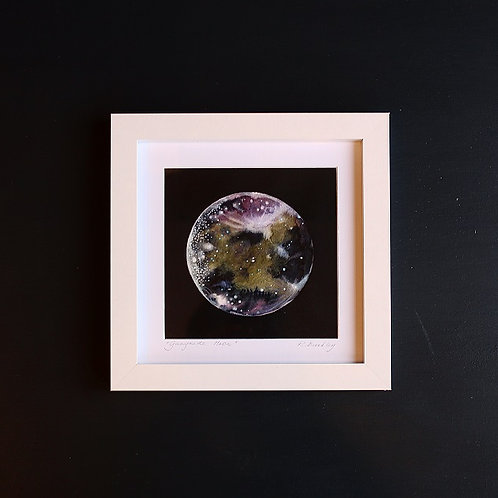"Original Framed ""Ganymede Moon"" Mixed media"