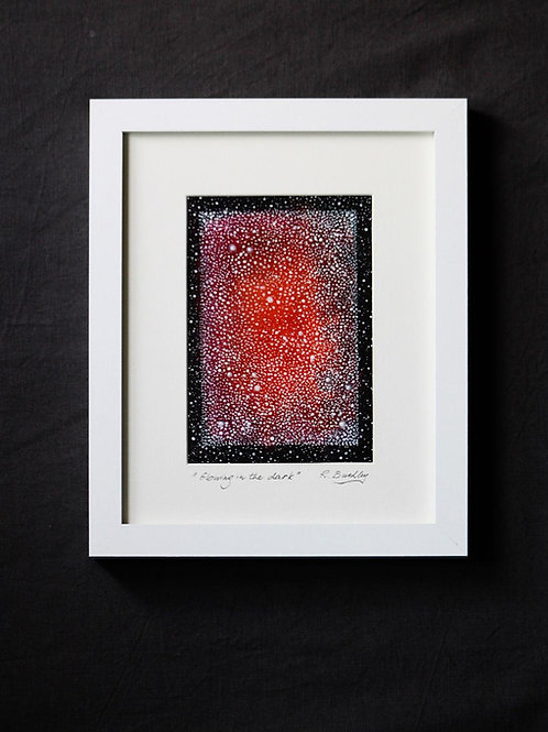 "Framed original Mixed Media ""Glowing in the dark"""