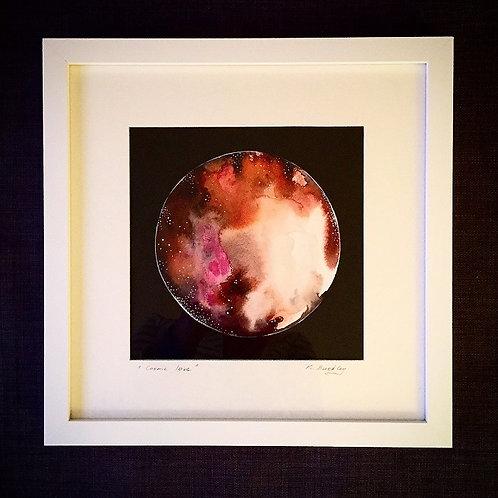 """Original Framed """"Cosmic Love"""" Mixed media"""