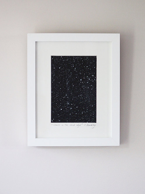 "Framed Original ""Stars in the dark sky"""