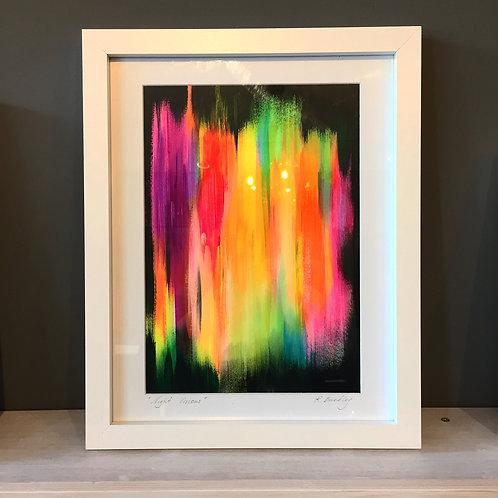 "Original framed ""Night Visions"" acrylics on paper"