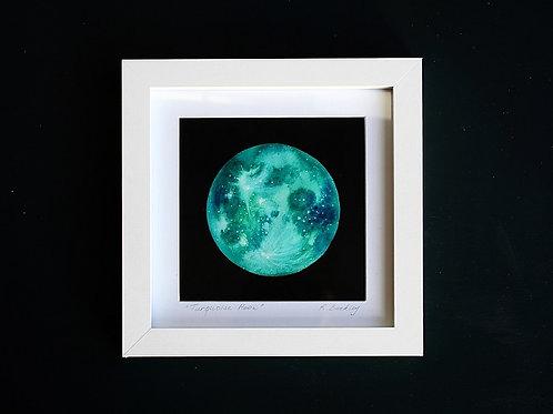 """Original Framed """"Silver Moon"""" Mixed media"""