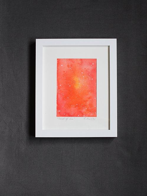"Framed original Mixed Media ""Sonnet of the Sun"""