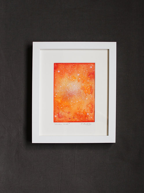 "Framed original Mixed Media ""Golden Hours"""