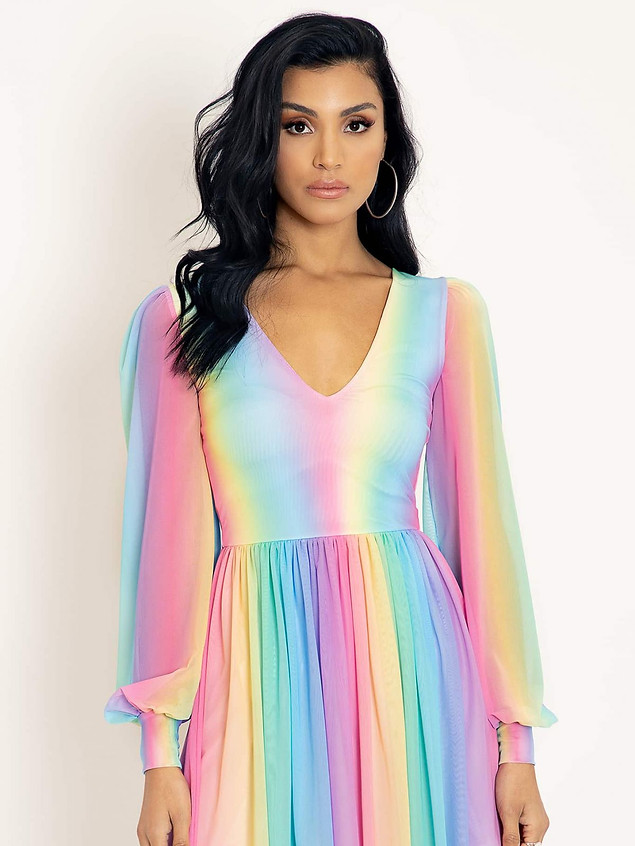 BM Rainbow Icecream Romance Twirl Dress