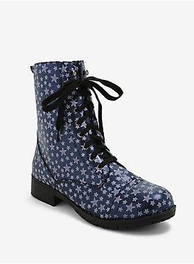 Hot Topic Glow In The Dark Star Combat Boots